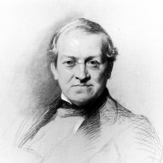 Dibuix de Sir Charles Wheatstone, inventor i científic anglès (1802-1875)